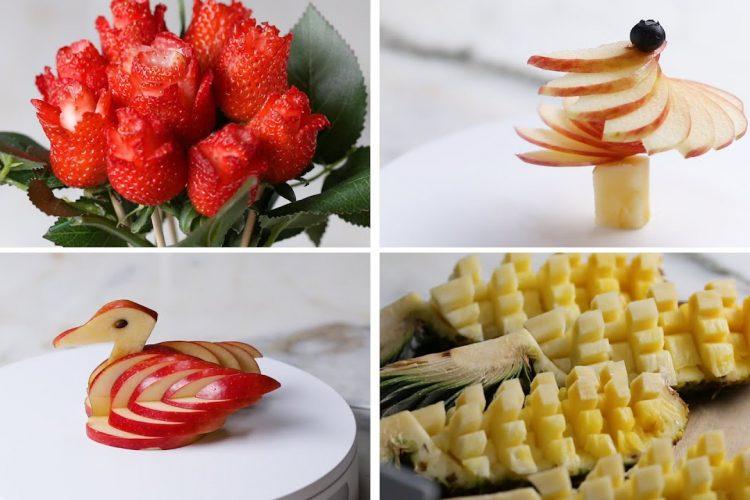 Video: 4 způsoby, jak ozdobně nakrájet ovoce