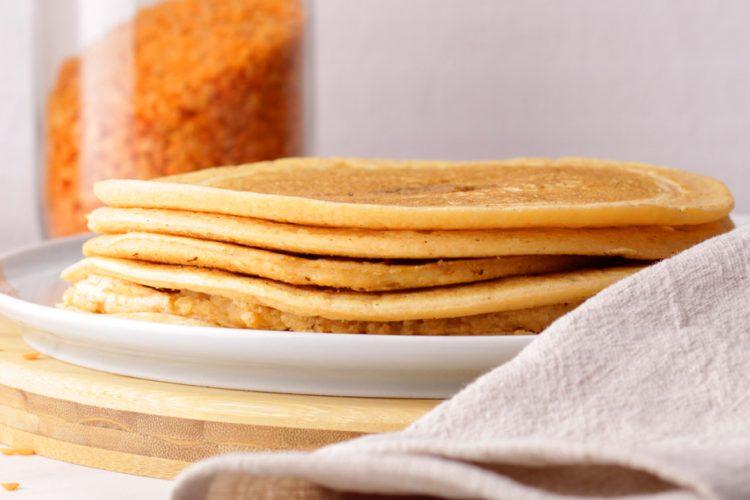 Zdravé a snadné placky (tortily) z červené čočky
