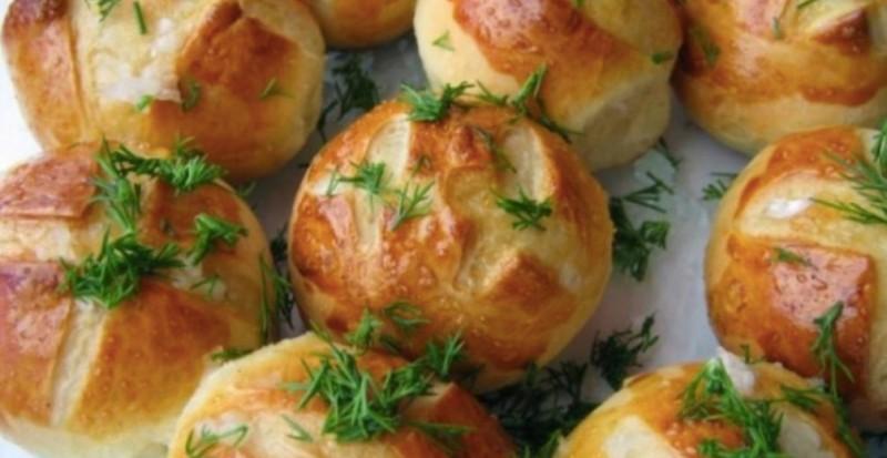 Česnekové houstičky recept