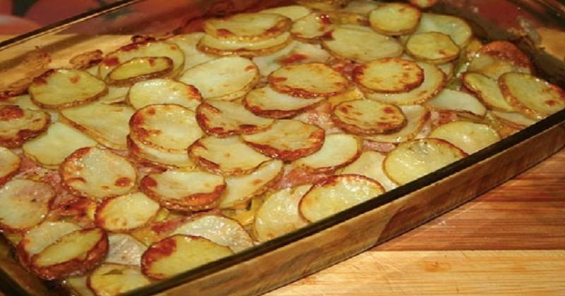 Gratinované brambory na ukrajinský způsob bez masa recept