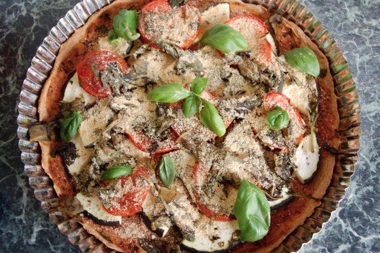 Veganská celozrnná pizza
