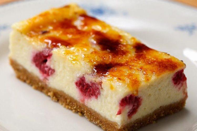 Video: Crème brûlée – cheesecake s malinami