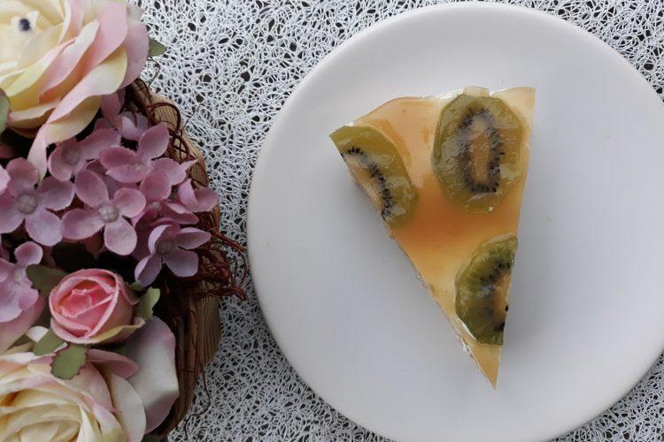 Letní kiwi řezy s krémem z mascarpone a zakysané smetany