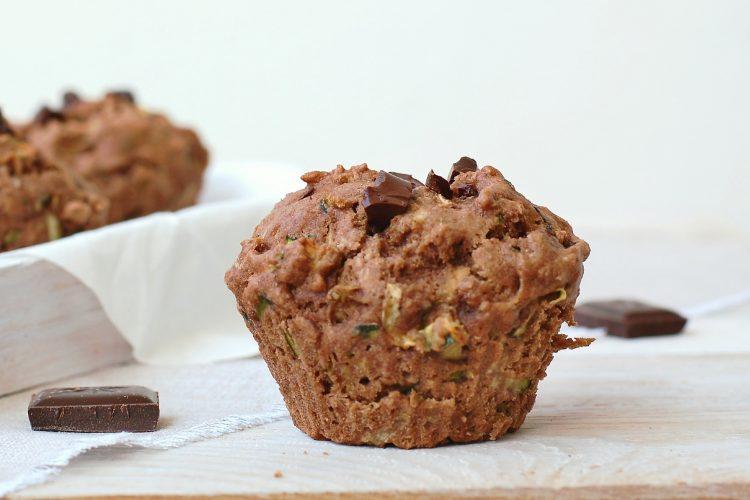 Cuketové muffiny s čokoládou
