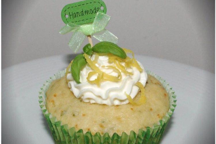 Bazalkovo-citrónové cupcaky