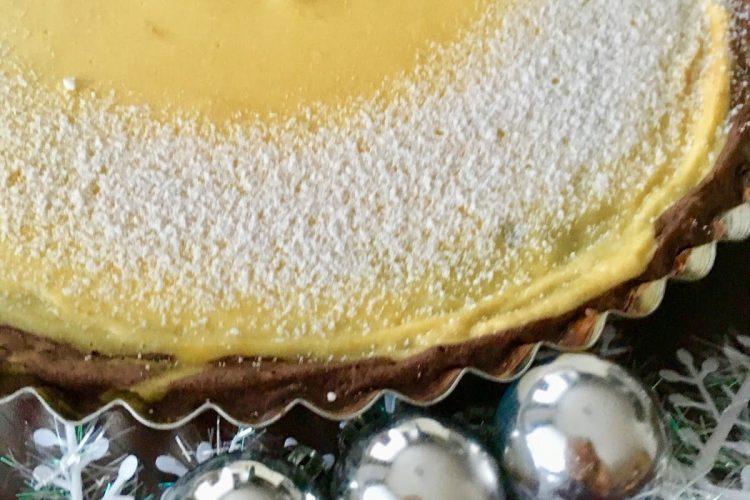 Předvánoční lehký koláč z tvarohu a vanilkového pudinku