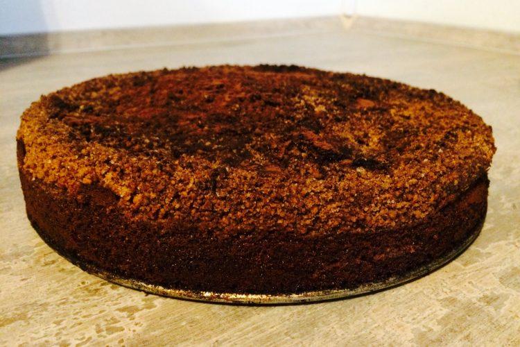 Kávový koláč s pekanovými ořechy