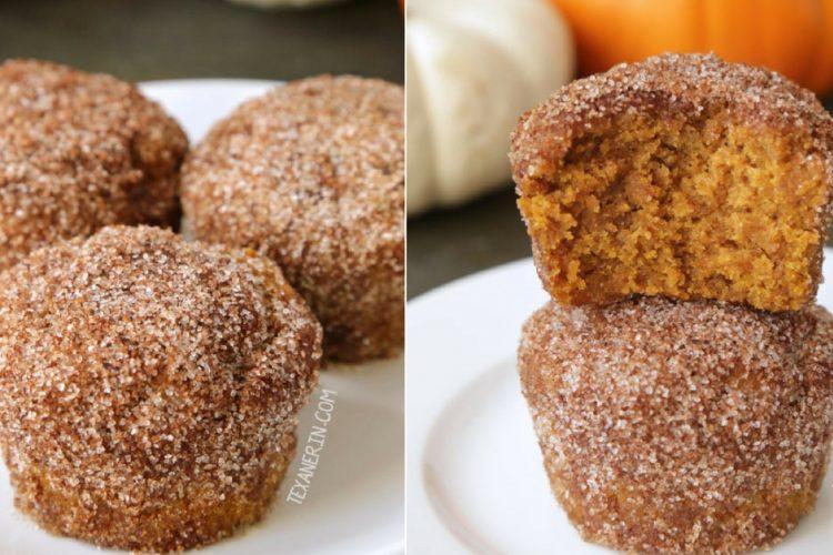 Vláčné skořicové muffiny z celozrnné mouky s posypkou
