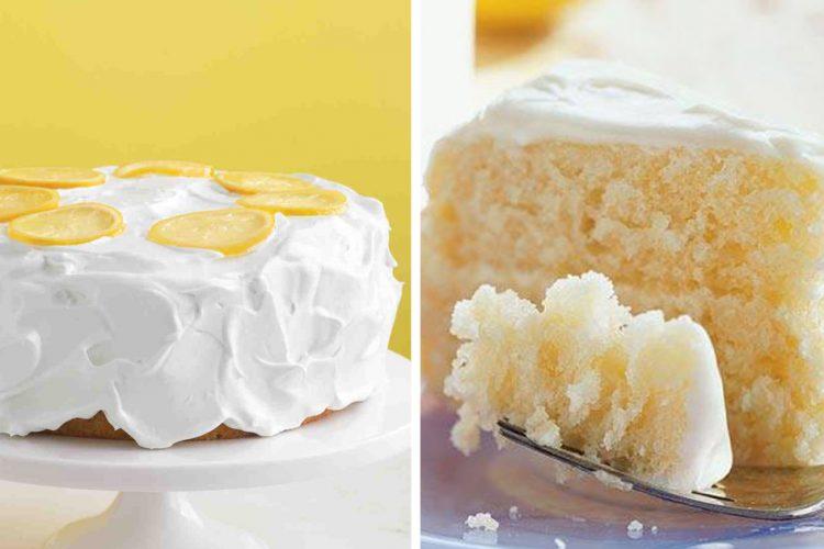 Citronový dort se smetanovou polevou