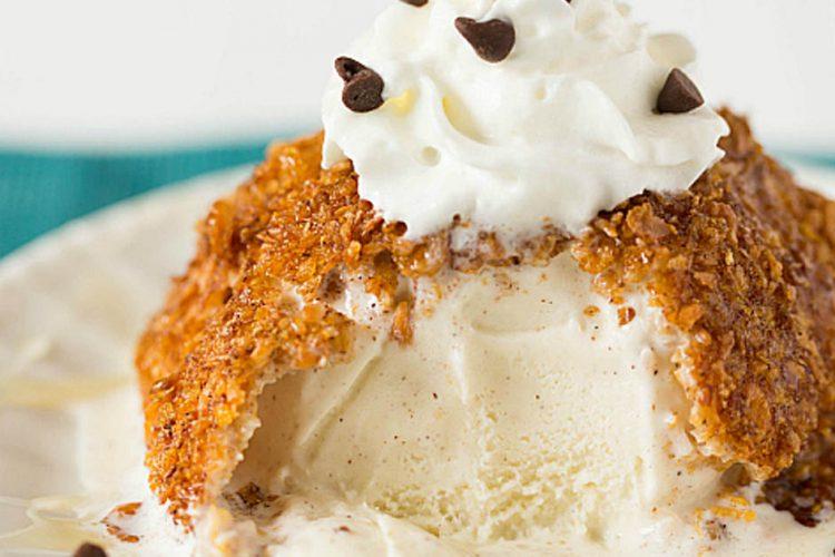 Šíleně dobrý dezert – smažená zmrzlina