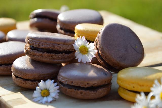 Čokoládové makronky