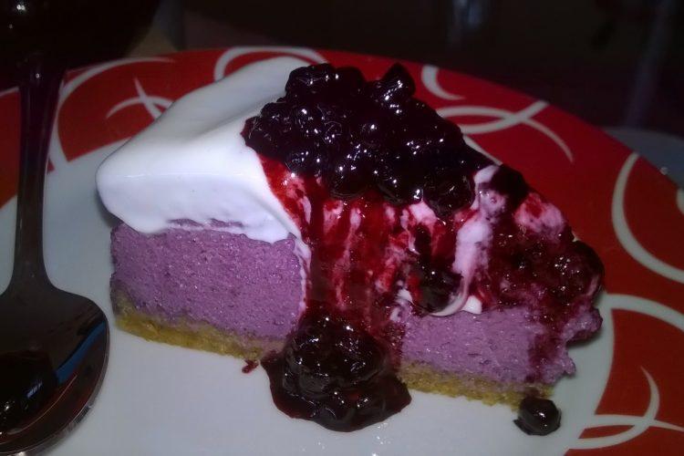 Domácí borůvkový cheesecake