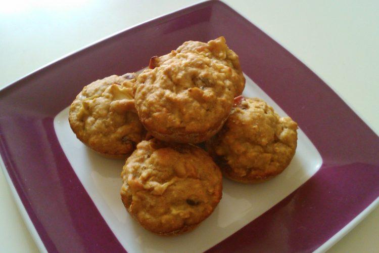 Muffiny s ovesnými vločkami bez tuku