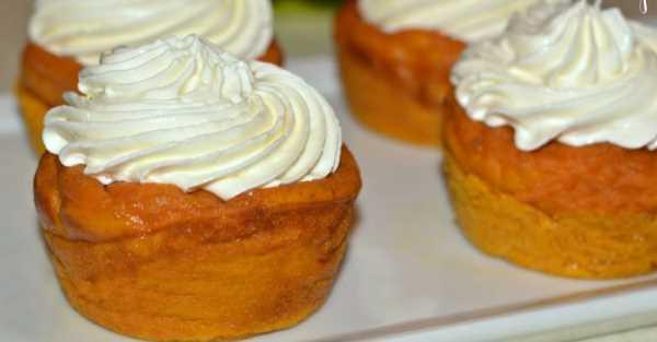 Rychlé dýňové dortíky s vanilkovým krémem