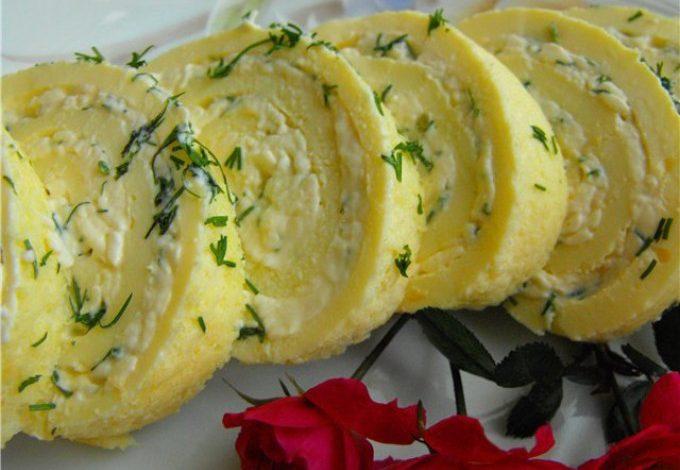 Rychlá vajíčková omeleta s majonézou a česnekem