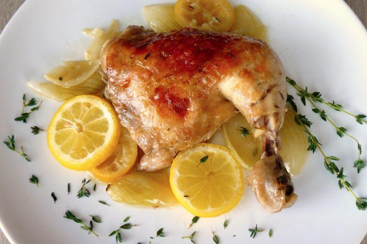 Kuře na citrónech a tymiánu