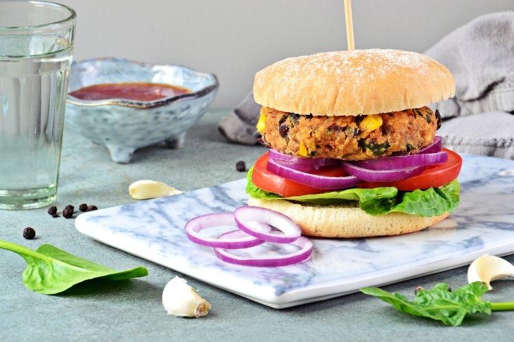 Fazolový burger
