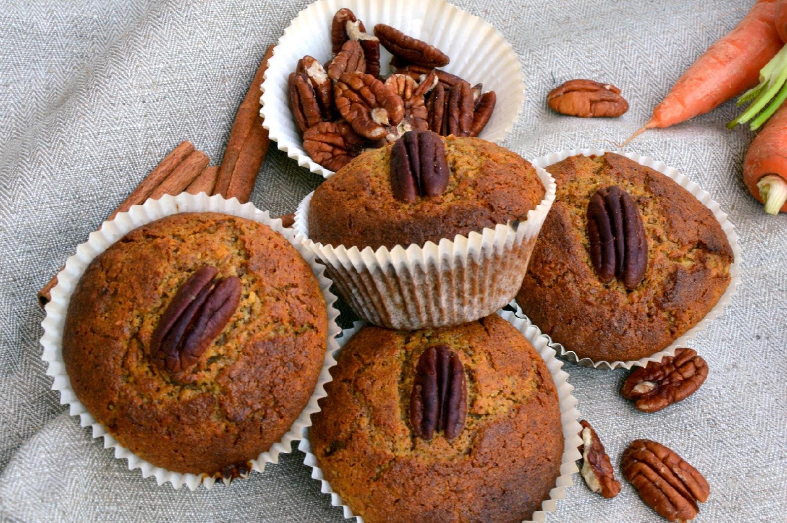 Mrkvové muffiny (bez lepku a laktózy)