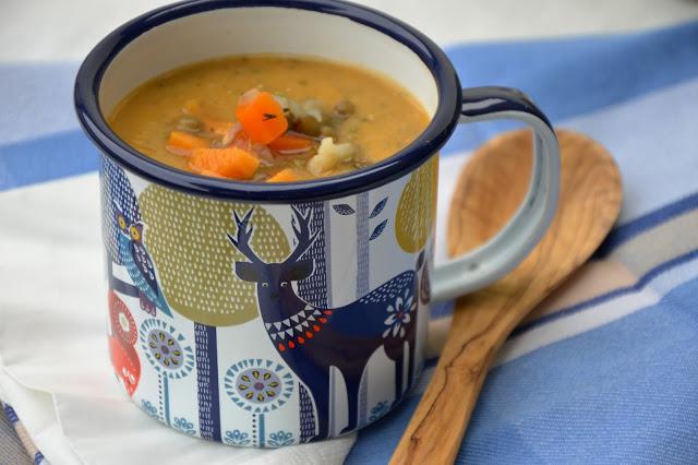 Batátovo-čočková polévka