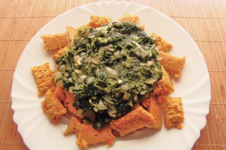 Pečené čočkovo-mrkvové polštářky se špenátem