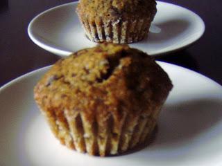 Banánové muffiny s čokoládou (20ks)
