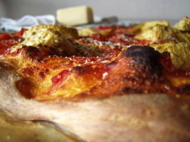 Pizza s artyčoky