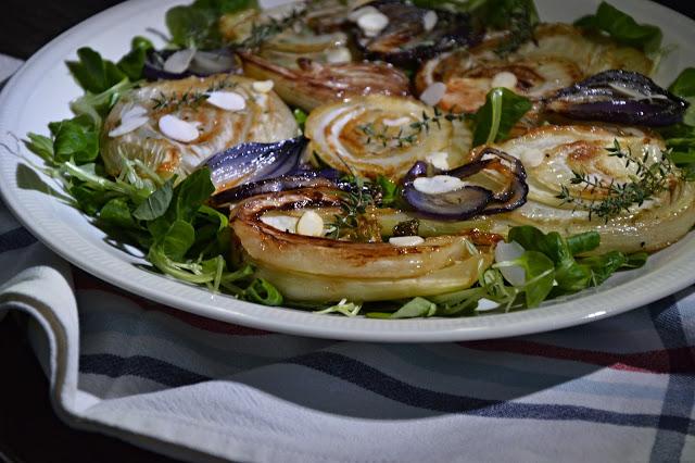 Salát s karamelizovaným fenyklem