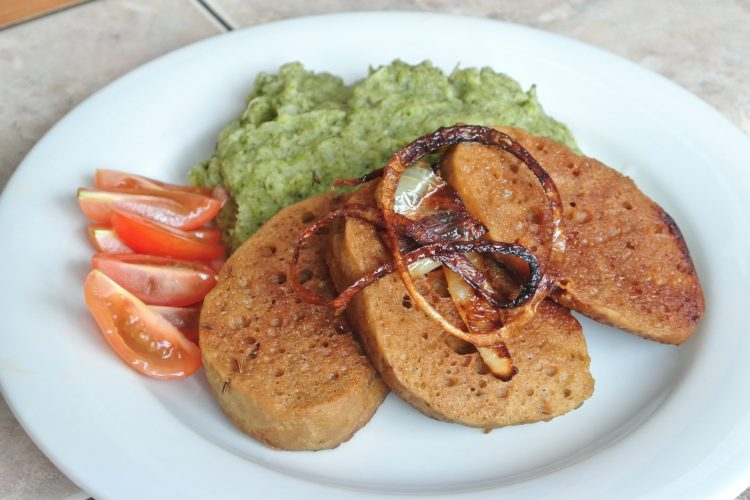 Seitan s brokolicovým pyré