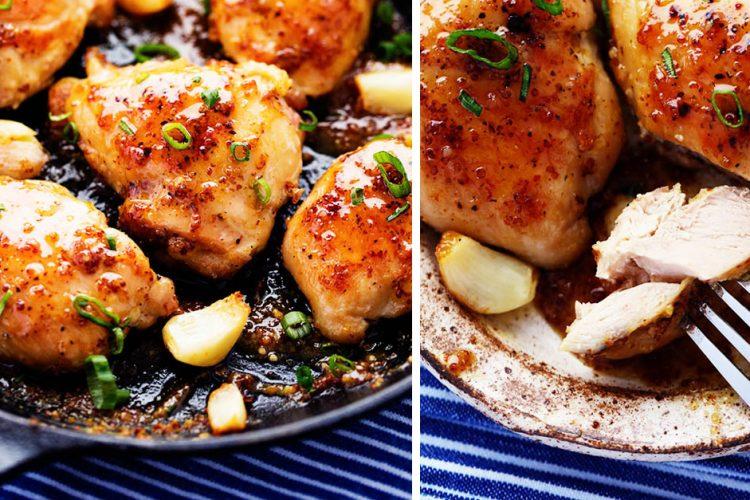 Medovo-česnekové kuře s dijonskou hořčicí do 30 minut