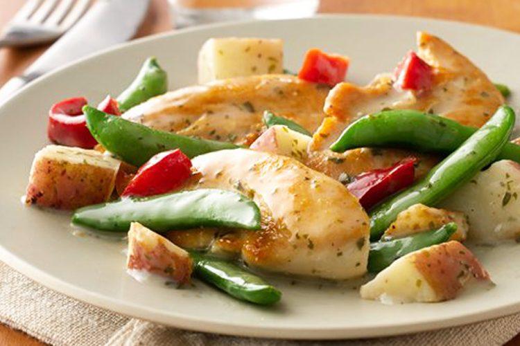 Kuřecí kousky se zeleninou hotové do 10 minut