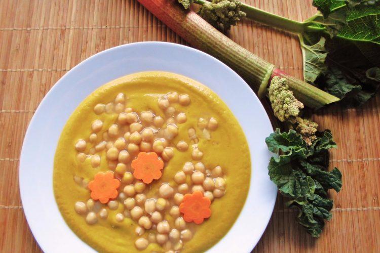 Cizrna v pikantní rebarborovo – mrkvové omáčce