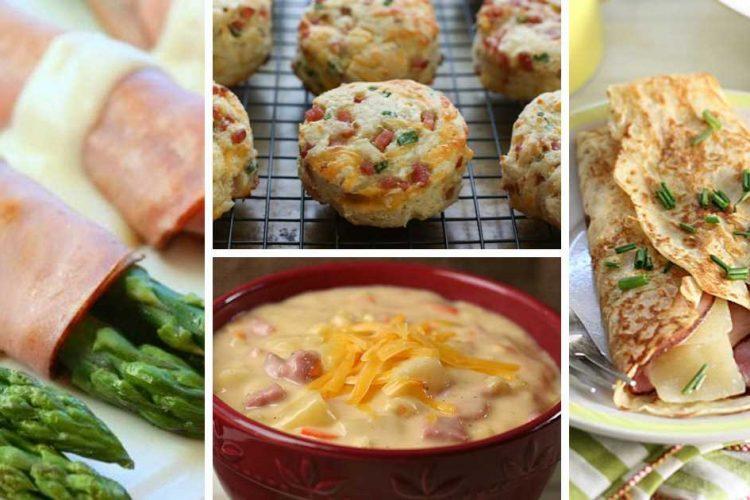 6 receptů na výborná jídla se šunkou a sýrem