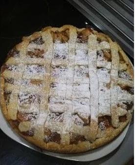 Jablečný linecký koláč naší babičky