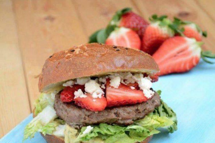 Jahodový hamburger