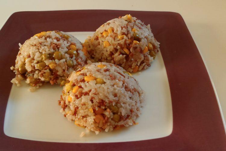 Krůtí rizoto z jasmínové a červené rýže