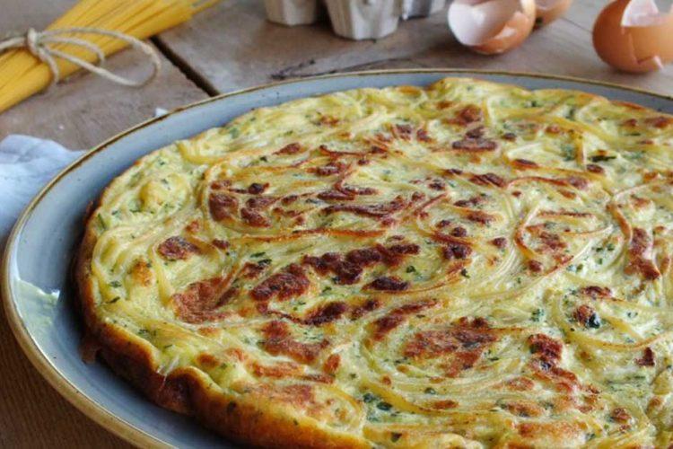 Snadná a rychlá omeleta za špaget z italské kuchyně