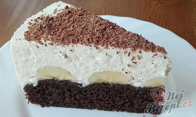 Banánový dort s tvarohovým krémem