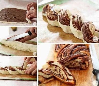 Pletený chléb s nutelou