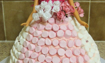 Torta s Marshmallow cukríkmi