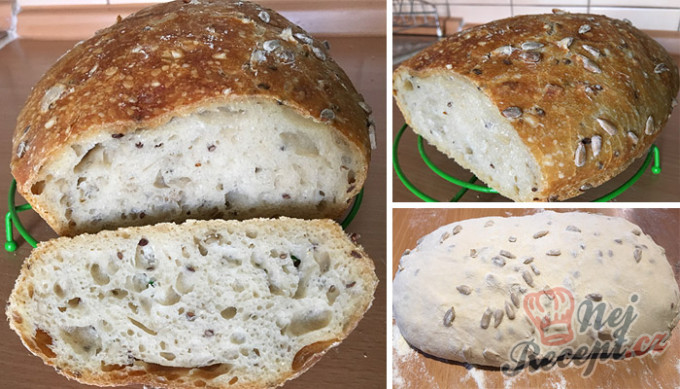 Hrnkový chléb téměř bez práce