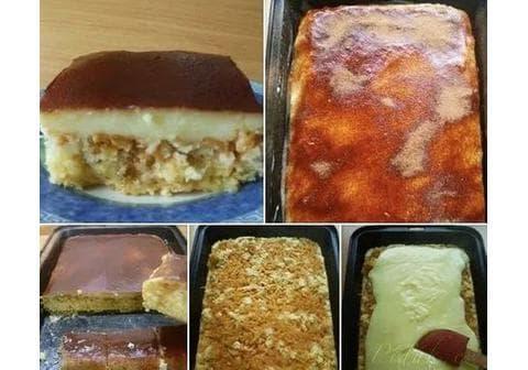 Jablečný koláč s pudinkem aneb obrácený jablečník