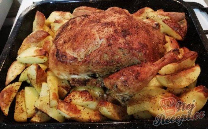 Plněné kuře s nádivkou