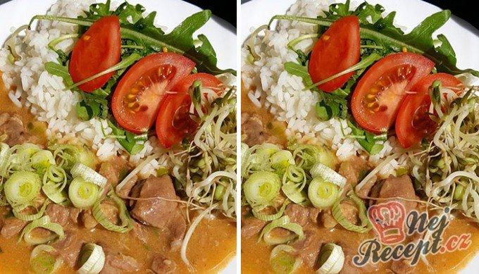 Krůtí perkelt s rýži a zeleninou