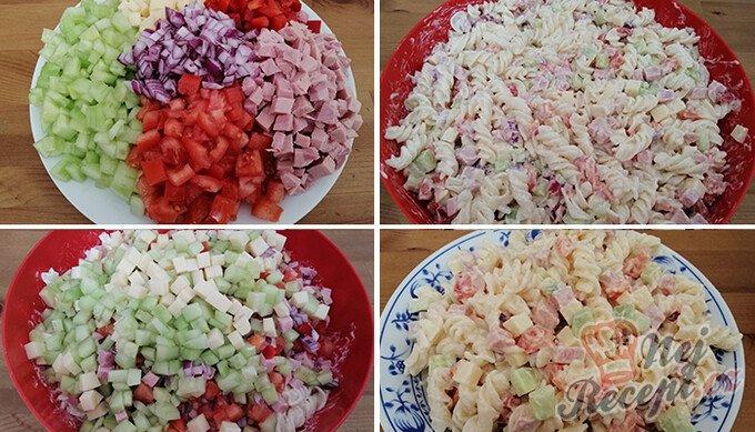 Bombastický těstovinový salát se zakysanou smetanou