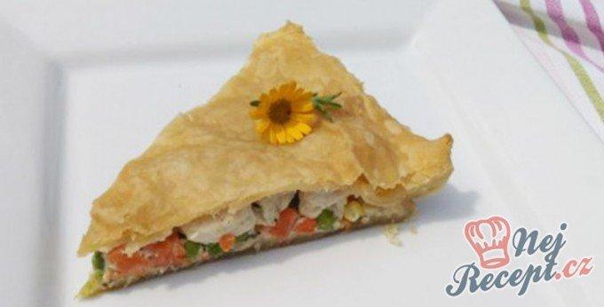 Quiche se zeleninou a kuřecím masem