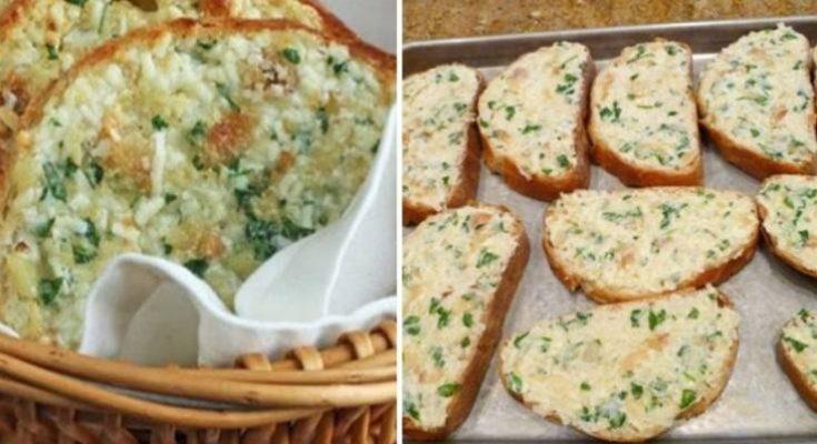 UŽ NIKDY NEVYHODÍTE STARÝ CHLIEB: Chrumkavý cesnakový chlieb so syrom pripravený behom 30 minút! Mňamka!