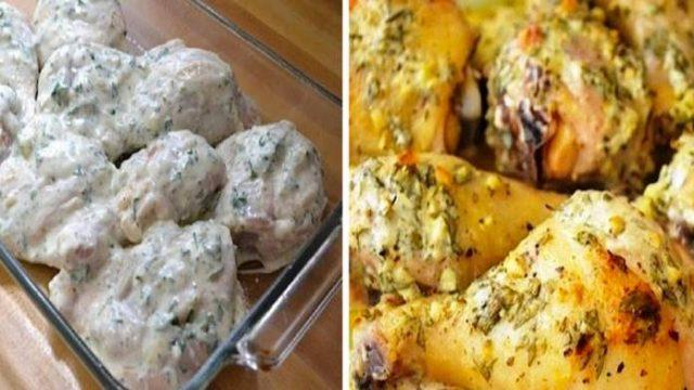 Tip od babičky: Pečené kuracie stehná s kyslou smotanou, zeleninou a zemiakmi! Báječná rychlovka!
