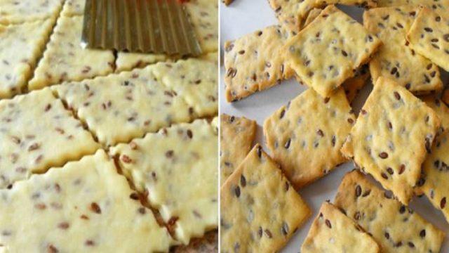 Domáce sušienky s ľanovými semienkami pripravené v rúre za 10 minút! Chutia skvele