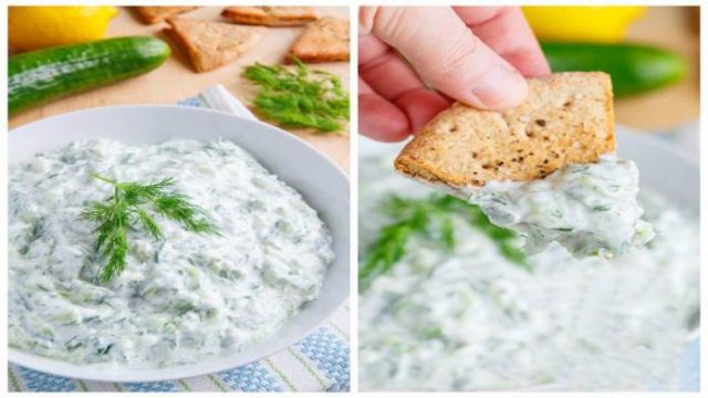 Najchutnejšia domáce tatárska omáčka z jogurtu s cesnakom a uhorkou