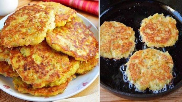 Zbožňujeme ich: Zemiakové placky plnené šunkou a syrom – hotové za 15 minút na panvičke!